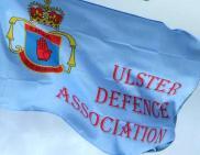 UDA flag flying in Ahoghill