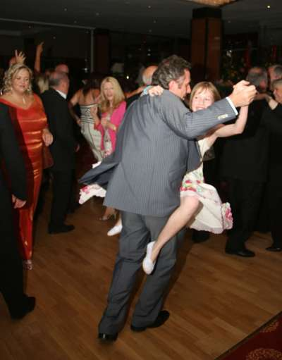Ian Paisley Junior dancing at Duo chinese restaurant