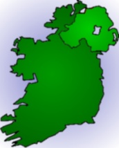 Outline of Northern Ireland and the Republic of Ireland